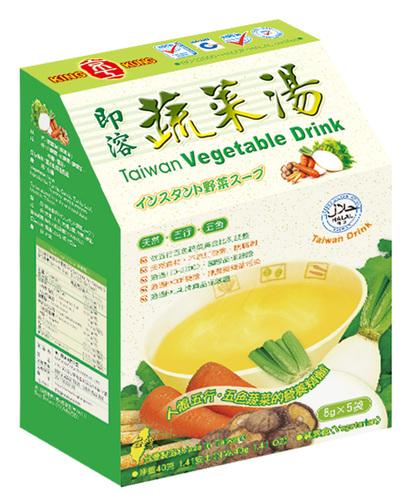 即溶蔬菜湯(5入) Taiwan Vegetable Drink